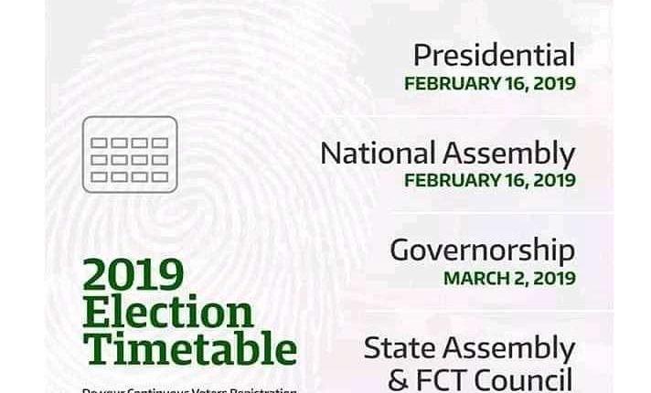 INEC Timetable