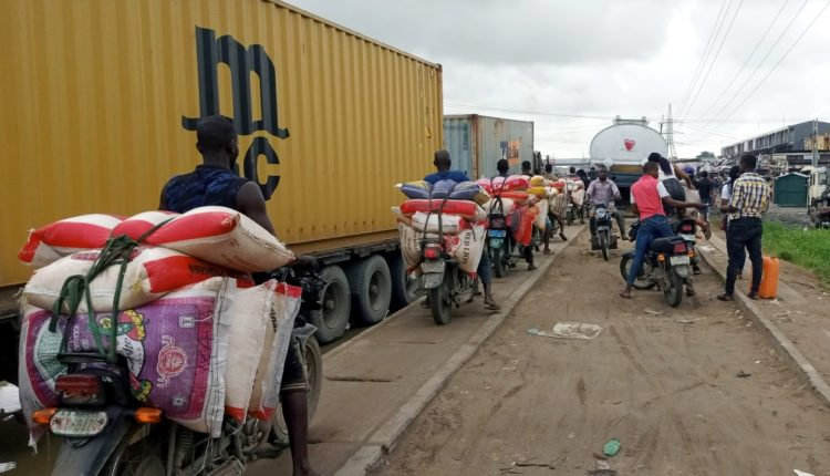 Rice Smuggling along Badagry Rd